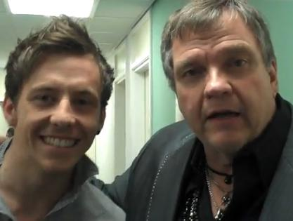 danny jones 2010. Meat Loaf and Danny Jones
