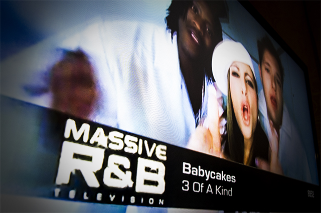 Massive R&B play Babycakes video on a loop