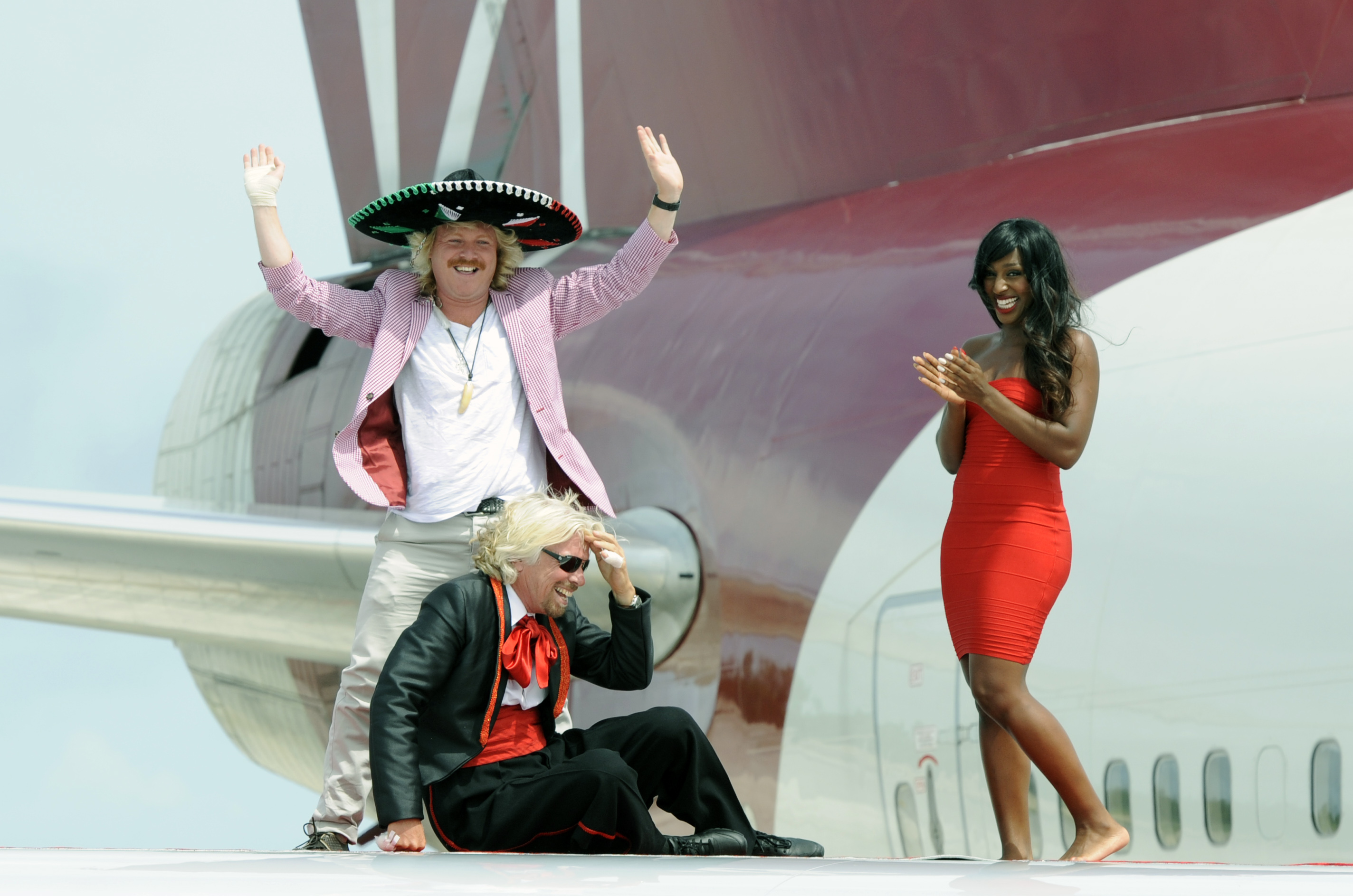 Richard Branson, Keith Lemon & Alexandra Burke touch down in Cancun!