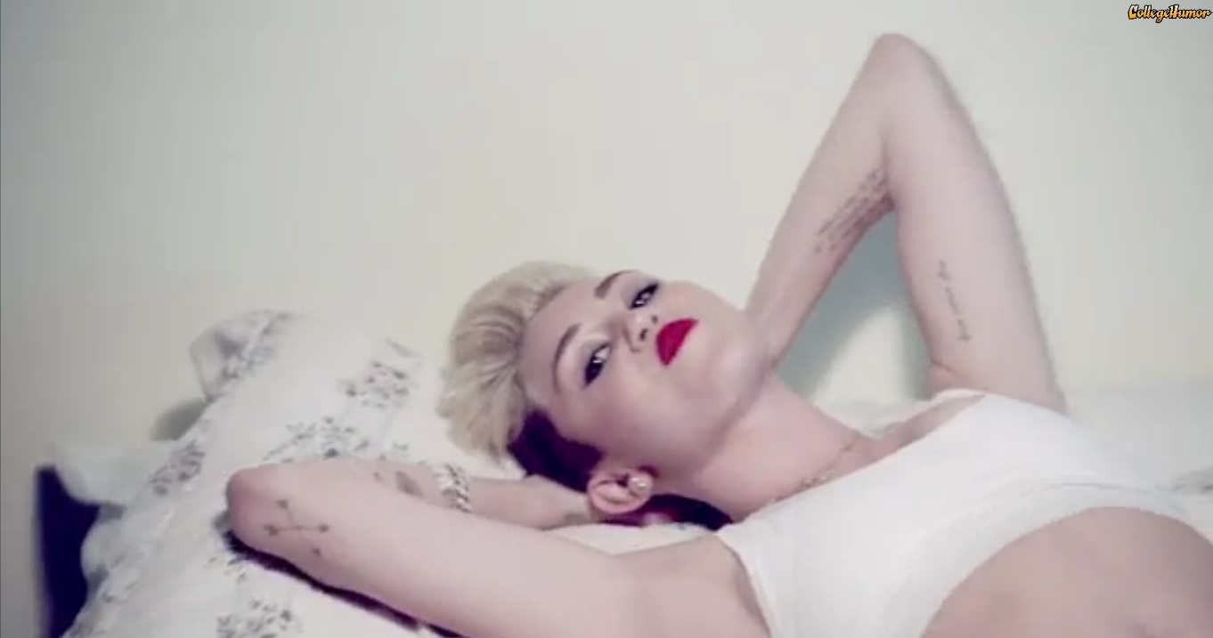 Take away the music and Miley Cyrus's new video is disturbing