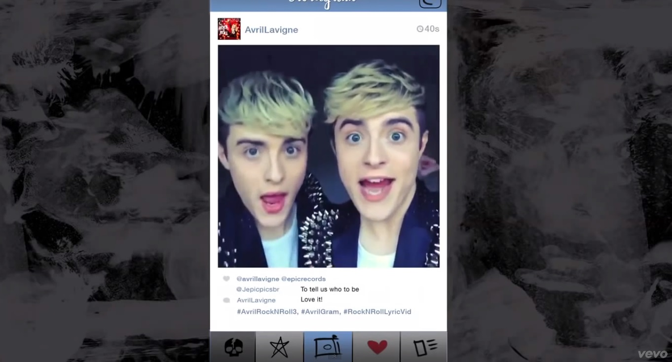 Jedward pop up in Avril Lavigne lyric video