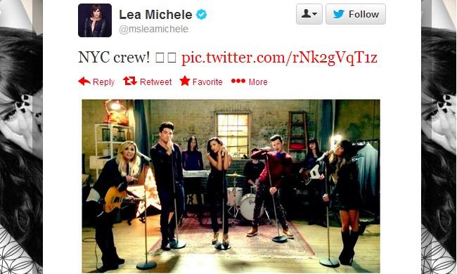 Lea Michele tweets Adam Lambert & Demi Lovato Glee teaser