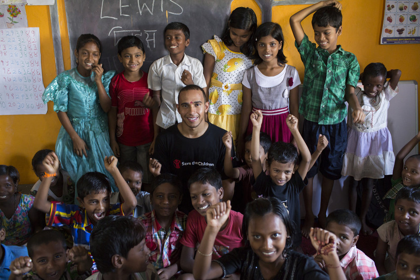 Lewis Hamilton joins Save the Children's education campaign