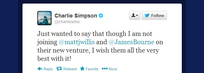 Charlie Simpson gives McBusted his blessing