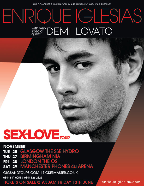 Finally! Enrique Iglesias announces UK tour!