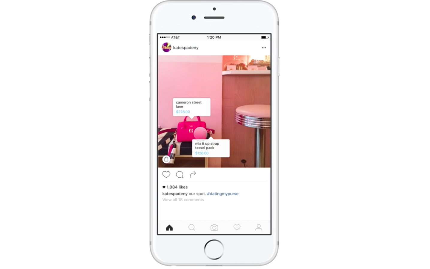 Instagram tests shoppable photo tagging