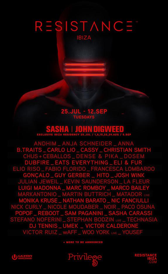 RESISTANCE Ibiza announces lineup