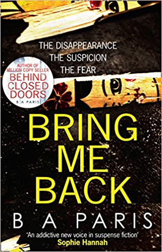 Book review: Bring Me Back by B.A Paris